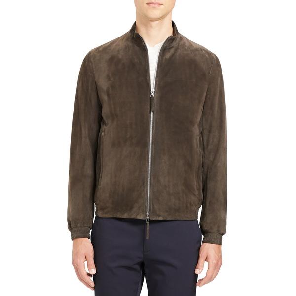 セオリー メンズ ジャケット&ブルゾン アウター Tremont Suede Jacket Mink