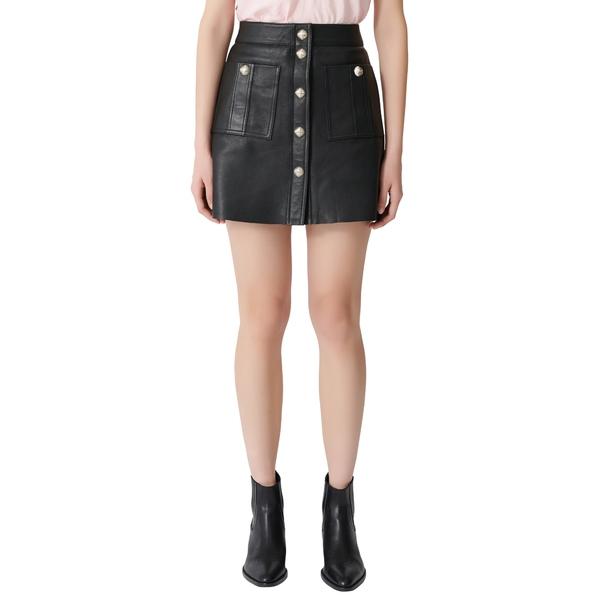 マージュ レディース スカート ボトムス Jeate Leather Miniskirt Black