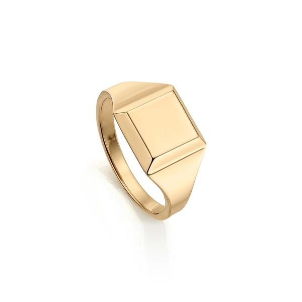 モニカヴィナダー レディース リング アクセサリー Signature Signet Ring Yellow Gold