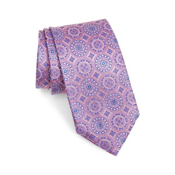 カナーリ メンズ ネクタイ アクセサリー Medallion Silk Tie Pink