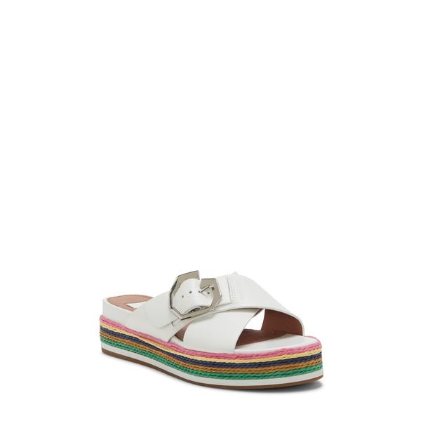ルイスエシー レディース サンダル シューズ Cassia Platform Sandal Optic White Leather