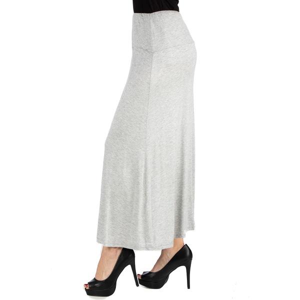 『1年保証』 24セブンコンフォート レディース ボトムス スカート Heather 全商品無料サイズ交換 Women's Size Maxi Elastic Waist Skirt 限定Special Price Plus