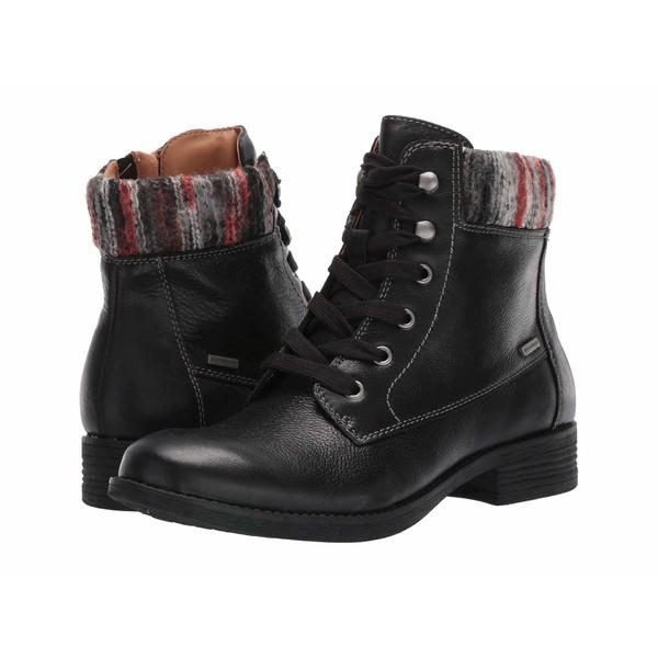 コンフォーティバ レディース ブーツ&レインブーツ シューズ Trenton Black Wild Steer/Black Multi Sweater Knit