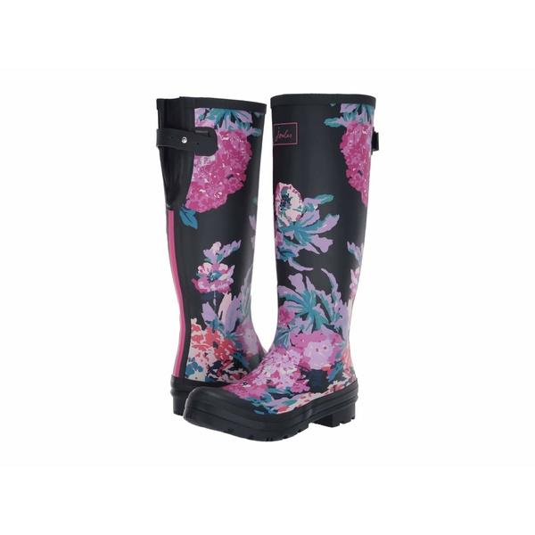 ジュールズ レディース ブーツ&レインブーツ シューズ Welly Print Navy All Over Floral