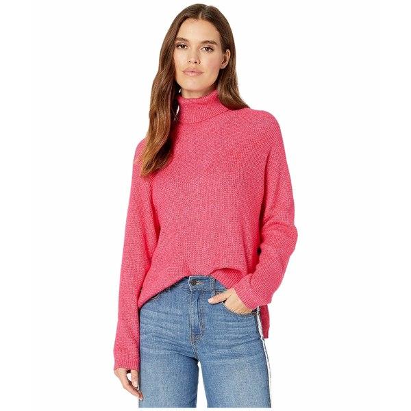 ワンステイト レディース ニット&セーター アウター Turtleneck Waffle Stitch Sweater Rapture Pink