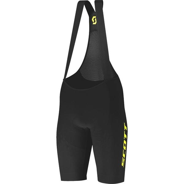 スコット メンズ サイクリング スポーツ RC Premium Kinetech ++++ Bib Short - Men's Black/Sulphur Yellow