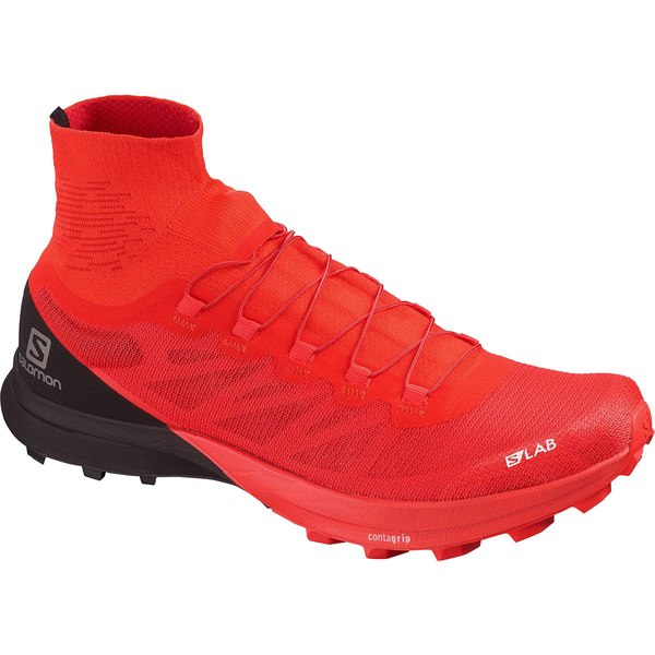 サロモン メンズ スニーカー シューズ S-Lab Sense 8 SG Trail Running Shoe - Men's Racing Red/Black/White