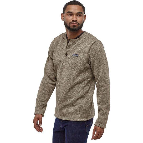 パタゴニア メンズ ニット&セーター アウター Better Sweater Henley Pullover Top - Men's Pale Khaki Rib Knit
