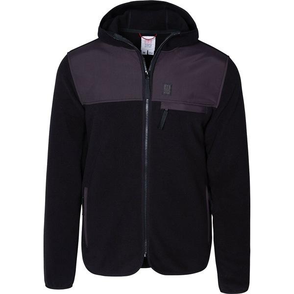 トポ・デザイン メンズ ジャケット&ブルゾン アウター Fleece Hooded Jacket - Men's Black