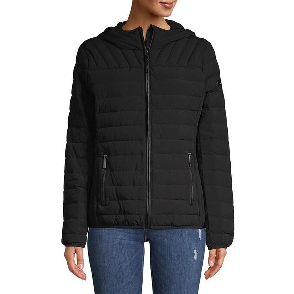 マイケルコース レディース コート アウター Quilted Zip Front Jacket Black
