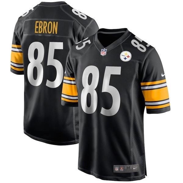 ナイキ メンズ シャツ トップス Eric Ebron Pittsburgh Steelers Nike Game Jersey Black