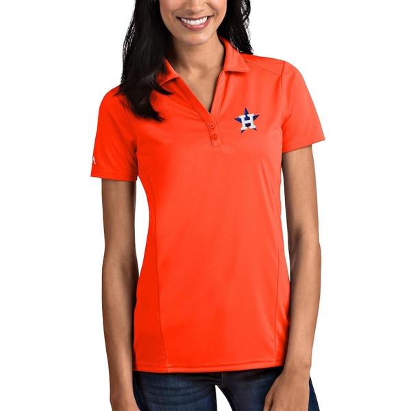 アンティグア レディース ポロシャツ トップス Houston Astros Antigua Women's Tribute Polo Orange