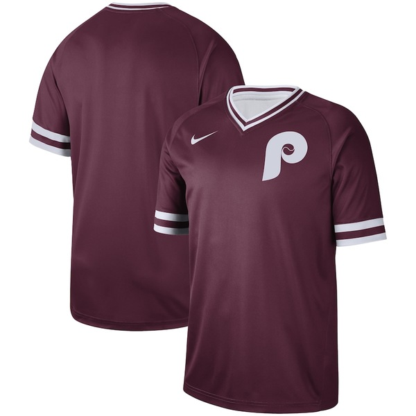 ナイキ メンズ シャツ トップス Philadelphia Phillies Nike Cooperstown Collection Legend V-Neck Jersey Maroon