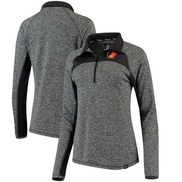 ファナティクス レディース ジャケット&ブルゾン アウター Baltimore Orioles Fanatics Branded Women's Static Quarter-Zip Pullover Jacket Heathered Gray/Charcoal