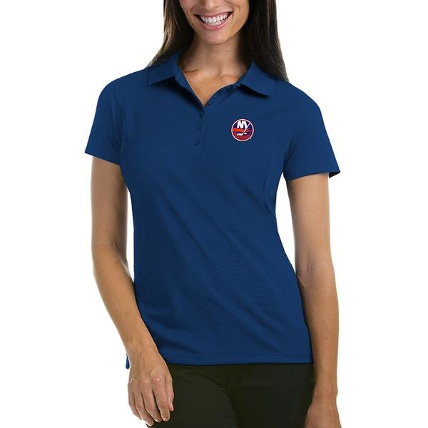 アンティグア レディース ポロシャツ トップス New York Islanders Antigua Women's Pique Performance Polo Royal