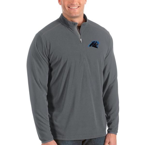 アンティグア メンズ ジャケット&ブルゾン アウター Carolina Panthers Antigua Glacier Big & Tall Quarter-Zip Pullover Jacket Steel