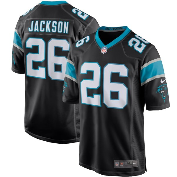 ナイキ メンズ シャツ トップス Donte Jackson Carolina Panthers Nike Player Game Jersey Black