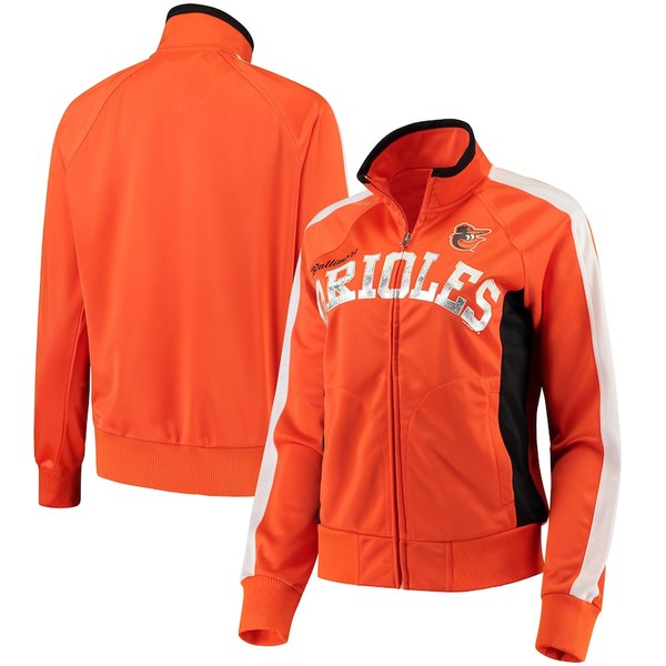 カールバンクス レディース ジャケット&ブルゾン アウター Baltimore Orioles G-III Sports by Carl Banks Women's Breaking Ball Full-Zip Track Jacket Orange