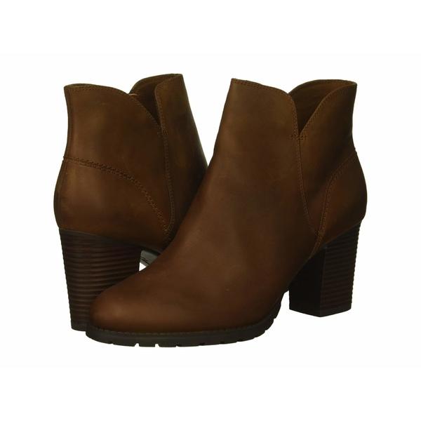 クラークス レディース ブーツ&レインブーツ シューズ Verona Trish Dark Tan Leather
