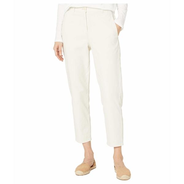 エイリーンフィッシャー レディース カジュアルパンツ ボトムス Organic Cotton Hemp Stretch High-Waisted Tapered Ankle Pants Bone