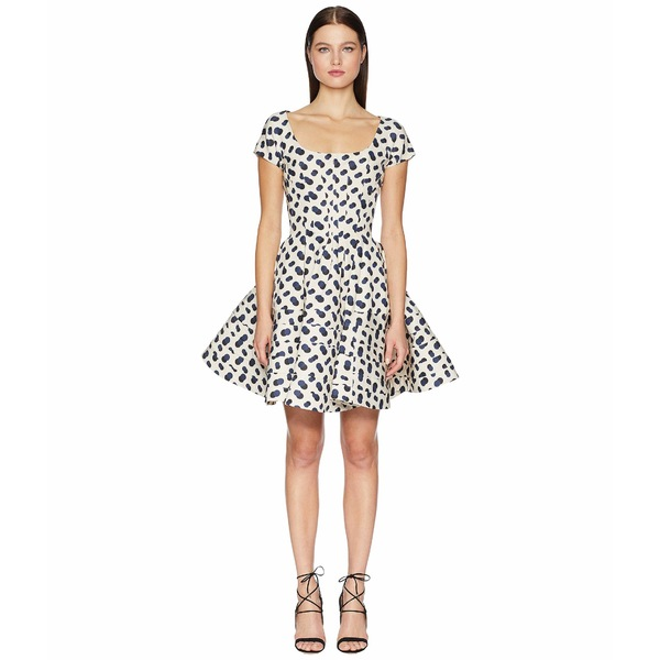 ザックポーゼン レディース ワンピース トップス Polka Dot Printed Dress Multi Ivory/Navy/Black