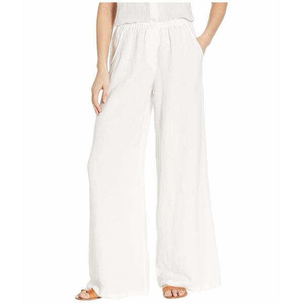 ニックプラスゾーイ レディース カジュアルパンツ ボトムス Refreshed Linen Pants Paper White