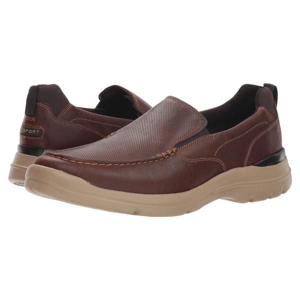 ロックポート メンズ スニーカー シューズ City Edge Slip-On Boston Tan Leather