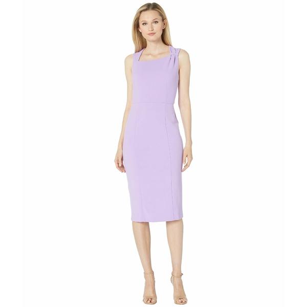 ドナモーガン レディース ワンピース トップス Sleeveless Asymmetric Neck Sheath Crepe Dress Lavender