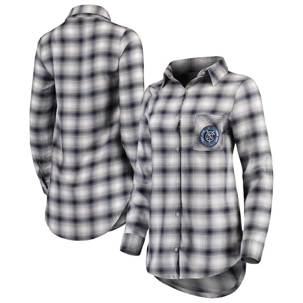 コンセプトスポーツ レディース シャツ トップス New York City FC Concepts Sport Women's Forge Plaid Tunic Navy/Gray