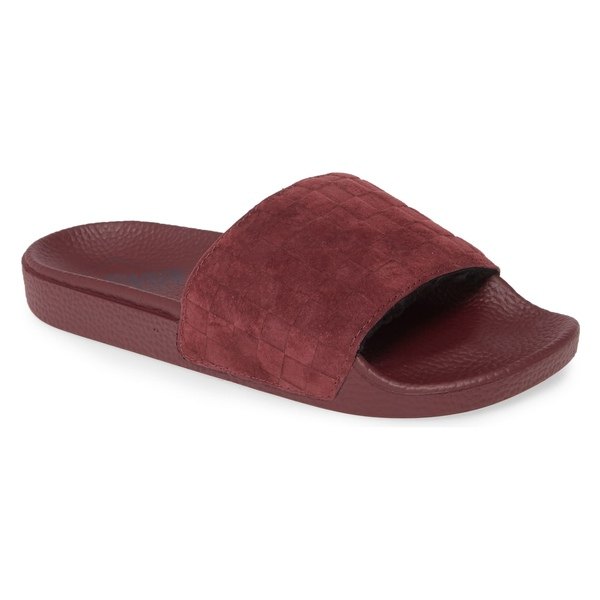 バンズ レディース サンダル シューズ Vans Faux Fleece Lined Suede Sport Slide (Women) Suede Checker/ Port Royale