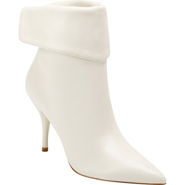 マーク・フィッシャー レディース ブーツ&レインブーツ シューズ Marc Fisher LTD x Elizabeth Sulcer Fifi Pointed Toe Bootie (Women) Ivory Leather