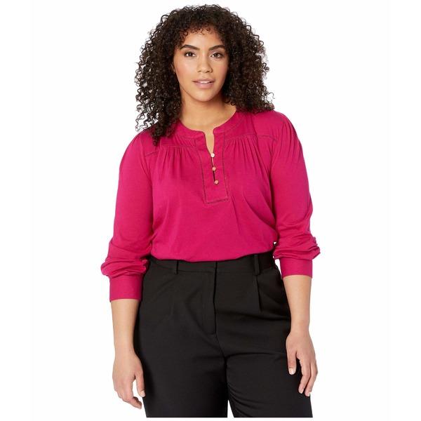 ラルフローレン レディース シャツ トップス Plus Size Cotton Jersey Top Bright Fuchsia