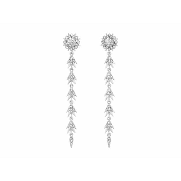 ヴィンスカムート レディース ピアス&イヤリング アクセサリー Starburst Linear Rhodium/Crystal