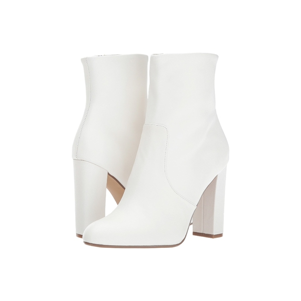 スティーブ マデン レディース ブーツ&レインブーツ シューズ Editor Dress Bootie White Leather