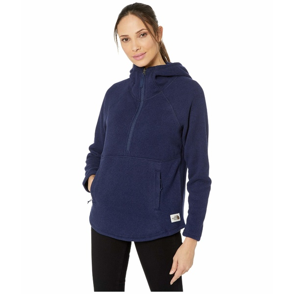 ノースフェイス レディース コート アウター Crescent Hooded Pullover Montague Blue Heather