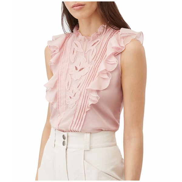 レベッカテイラー レディース シャツ トップス Sleeveless Hana Embroidered Top Rose Quartz