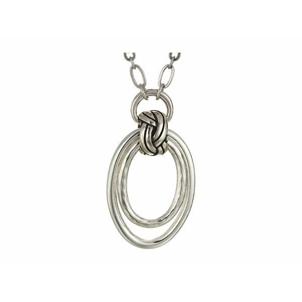 ブライトン レディース ネックレス・チョーカー・ペンダントトップ アクセサリー Interlok Rings Necklace Silver