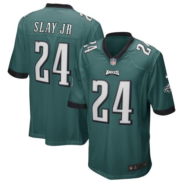 ナイキ メンズ シャツ トップス Darius Slay Jr. Philadelphia Eagles Nike Game Jersey Midnight Green