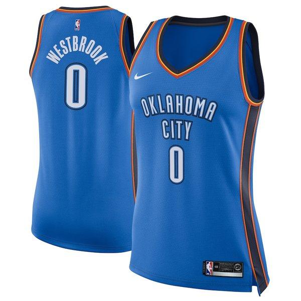 ナイキ レディース シャツ トップス Russell Westbrook Oklahoma City Thunder Nike Women's Swingman Jersey Blue Icon Edition