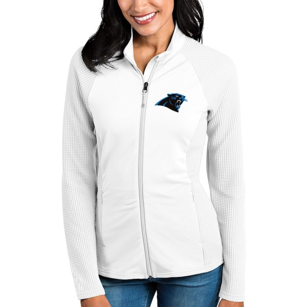 アンティグア レディース ジャケット&ブルゾン アウター Carolina Panthers Antigua Women's Sonar Full-Zip Jacket White