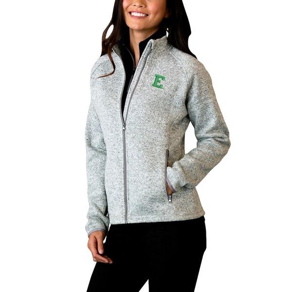 ビンテージアパレル レディース ジャケット&ブルゾン アウター Eastern Michigan Eagles Women's Summit Fleece Sweater Full-Zip Jacket Heather Gray