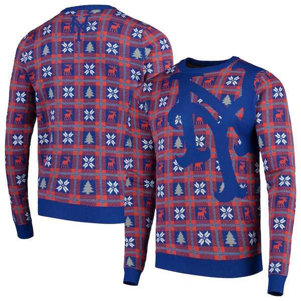 フォコ メンズ シャツ トップス New York Mets Big Logo Pullover Sweater Blue