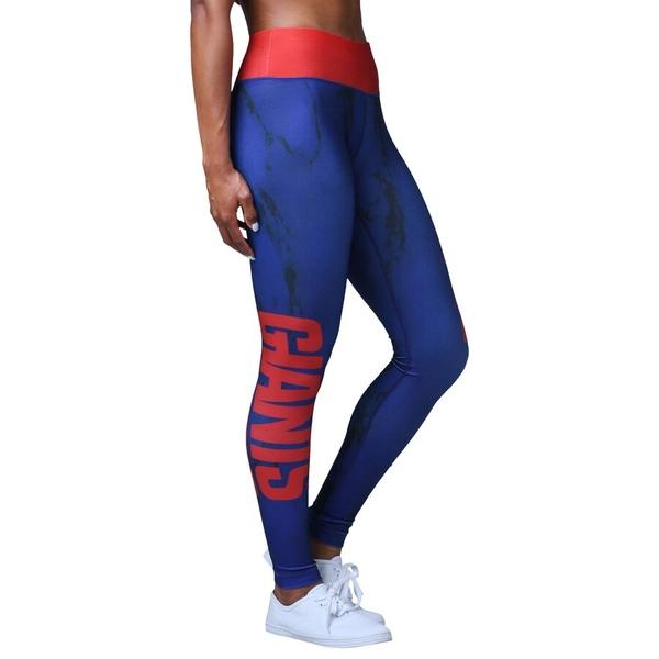 フォコ レディース カジュアルパンツ ボトムス New York Giants Women's Team Color Marble Wordmark Leggings Royal