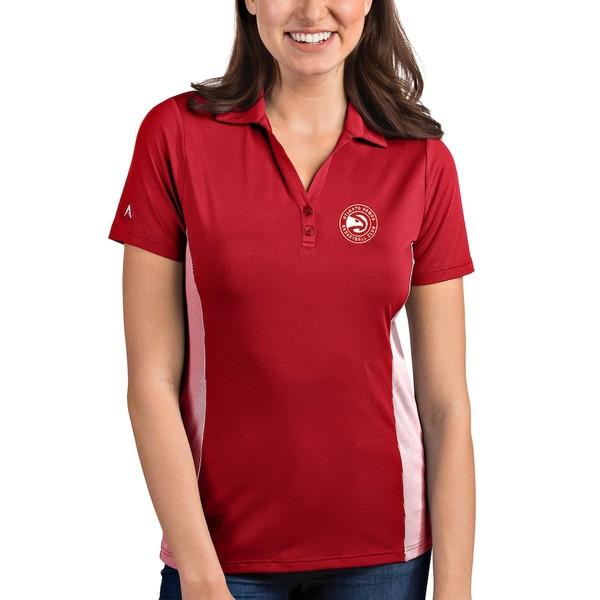 アンティグア レディース ポロシャツ トップス Atlanta Hawks Antigua Women's Venture Polo Red/White
