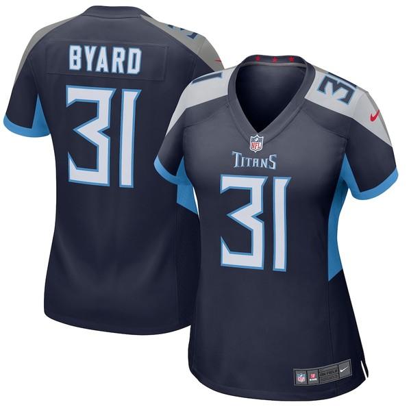 ナイキ レディース シャツ トップス Kevin Byard Tennessee Titans Nike Women's Player Game Jersey Navy