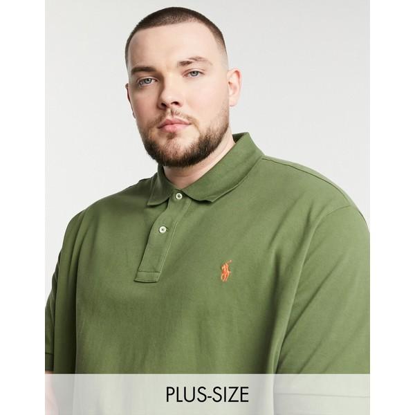 ラルフローレン メンズ トップス シャツ Green 全商品無料サイズ交換 Polo Ralph Lauren logo 人気商品 Tall olive Big in pique polo green player 卓越