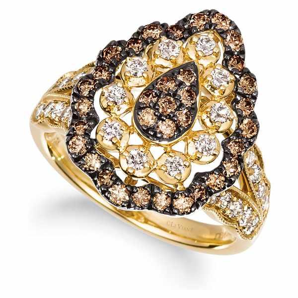 【特価】 ルヴァン レディース Nude リング アクセサリー Yellow Chocolate Diamond 14k (1/2 ct. t.w.) & Nude Diamond (1/2 ct. t.w.) Ring in 14k Gold Yellow Gold, くすりのエンジェル:72687edd --- easassoinfo.bsagroup.fr