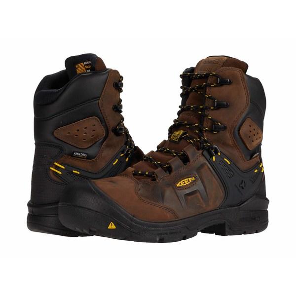 キーン メンズ シューズ ブーツ レインブーツ 新色追加 春の新作シューズ満載 Dark Earth Black Toe Insulated Waterproof Dover Boot Carbon-fiber 全商品無料サイズ交換 8
