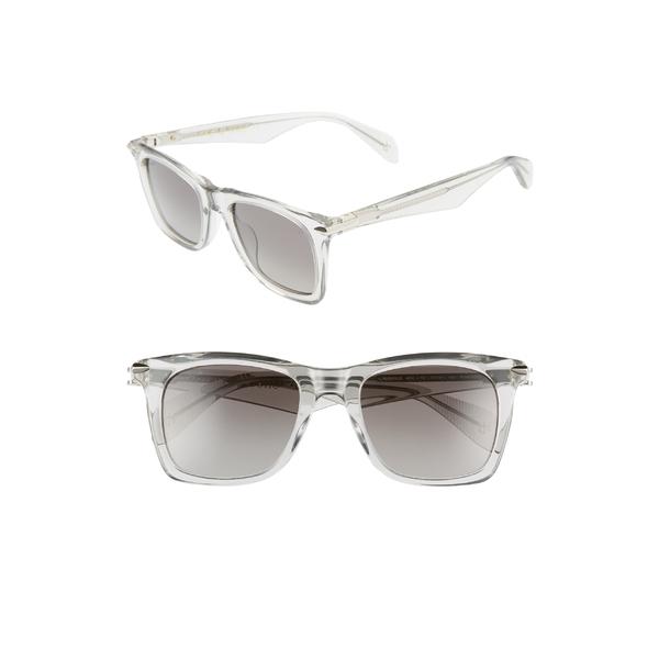 ラグアンドボーン メンズ サングラス・アイウェア アクセサリー rag & bone 51mm Polarized Sunglasses Smoke Silver