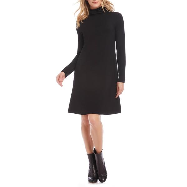 カレンケーン レディース ワンピース トップス Karen Kane Quinn Long Sleeve Turtleneck Dress Black